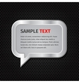 Silver speech bubbles for message on dark vector image