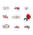Vlog or video vector image vector image