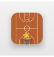 Square icon of basketball sport vector image