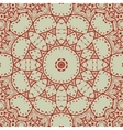 Abstract seamless pattern in red with circle vector image
