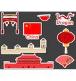 China stickers chinese landmark Forbidden City vector image