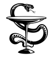 medicine and pharmacy snake vector image