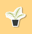 paper sticker on stylish background ficus vector image