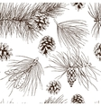 Pine branches seamless pattern vector image