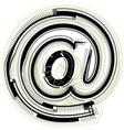 technological font symbol vector image