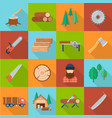 timber industry set vector image
