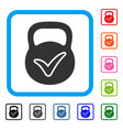 valid iron weight framed icon vector image