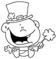 St Patricks day baby cartoon vector image vector image