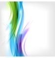Abstract colored wave on background vector image vector image