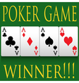 Poker vector image vector image