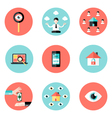 Business Real Estate Circle Flat Icons Set vector image vector image