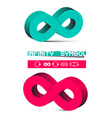 3D Infinity Symbols Set Isolated on White vector image vector image