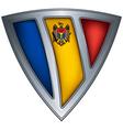steel shield with flag moldavia vector image