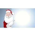 portrait of Santa Claus showing billboard vector image vector image