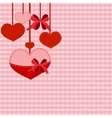 valentine hearts background vector image vector image