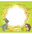 frame for congratulations - with animals vector image