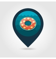 Swimming circle on water pin map icon Vacation vector image