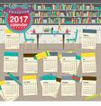 2017 Calendar Starts Sunday Education Concept vector image