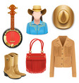 Cowboy Female Accessories vector image