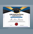 high school diploma certificate template design vector image
