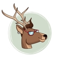 portrait deer hipster style sunglasses and vector image