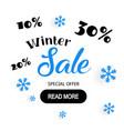 poster for winter sale background flat design vector image