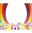 rainbow card template vector image