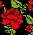 Red Rose seamless pattern Floral texture Russian vector image