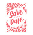 save the date vintage lettering typography card 2 vector image