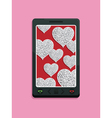 smart phone glitter love vector image