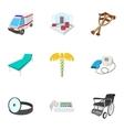 Treatment icons set cartoon style vector image