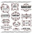 vintage badges for shops vector image