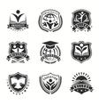 University And College Logos Emblem Set vector image vector image