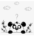 Panda cute vector image vector image