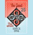 color vintage donuts store banner vector image