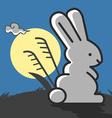 Rabbit under the moonlight vector image