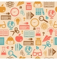 Education seamless wallpaper vector image