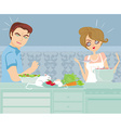 mouse in the kitchen vector image vector image