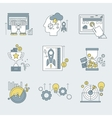Abstract collection flat business and vector image