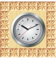 Wall mounted clock vector image vector image