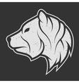 Bear symbol the logo for dark background vector image