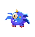 Blue Fantastic Friendly Pet Dragon With Four Wings vector image