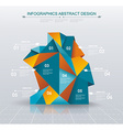 Business Infographics polygonal design style vector image