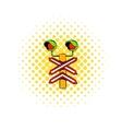 Rail crossing signal icon comics style vector image