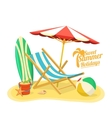 Sea sand shore and beach vector image