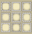 square frames with eastern elements vector image