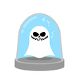 Ghost in trap specter in Glass bell laboratory vector image