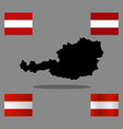 austria flag with the map vector image
