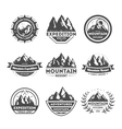 Mountain explorer vintage isolated label set vector image