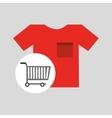 Buying cart tshirt clothing design vector image